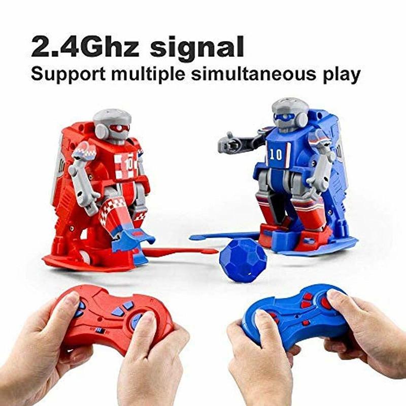 1 paire RC football Robots enfants jouets ensemble 2.4G télécommande Robot Sport balle jeux cadeaux BM88