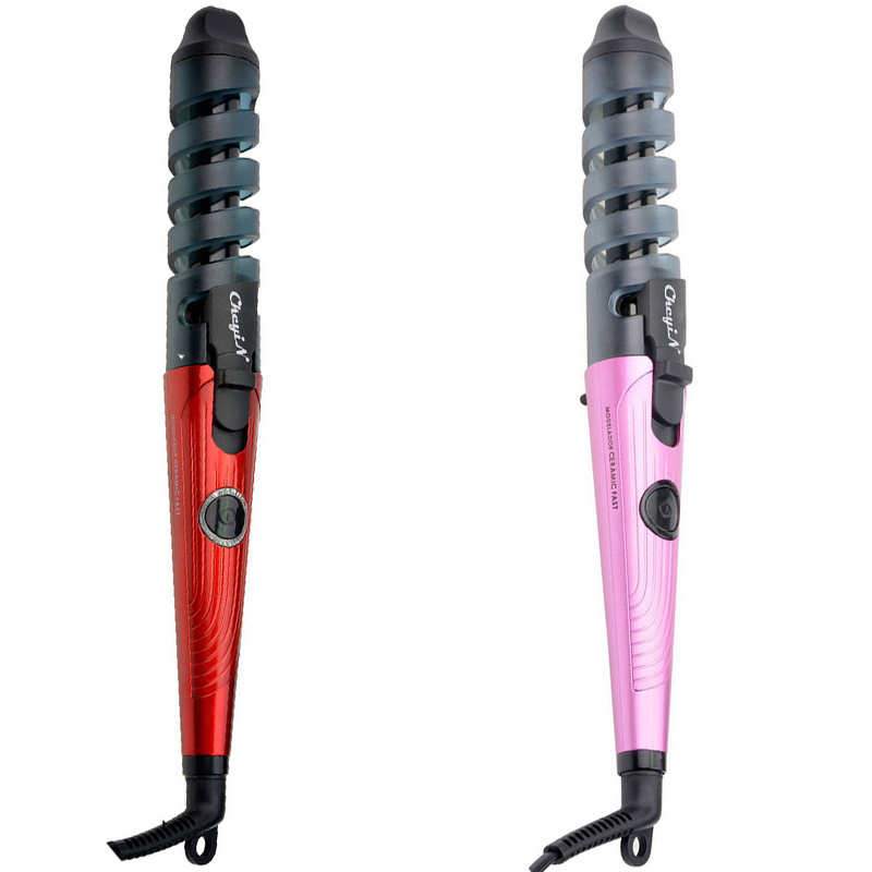 2016 Professional  Electric Magic Hair Styling Tool and Curler Roller Pro Spiral Curling Iron Wand Curl Styler for Curling Hair hot sale electric professional nano titanium automatic magic hair curler perfect roller and styling tools
