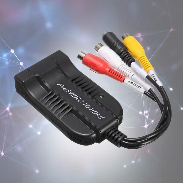 AV и S-Video Для HDMI Конвертер 1080 P HDMI Конвертер HD Аудио А. В. конвертер HDTV Видео Кабель-Адаптер NTSC/PAL Для HD TV Новый APE