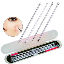 Cheap Price High Quality 4pcs/set Acne tool stainless steel blackhead pimples acne needle Professional acne treatment for Acne