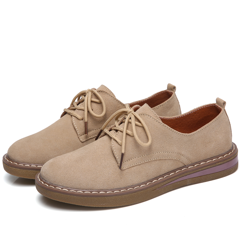 2018 women oxford shoes women casual flats shoes female cow suede leather shoes moccasins lace up loafers blue khaki black shoes spring women oxford shoes ballerina flats shoes women genuine leather shoes moccasins lace up loafers white shoes footwear