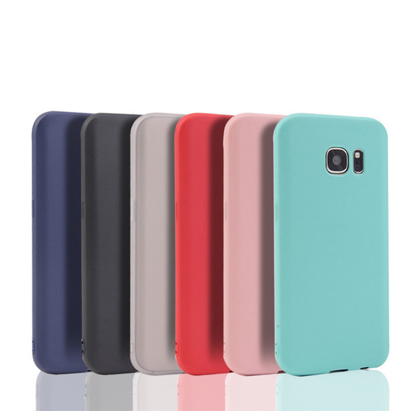 Silicon Case for <font><b>Samsung</b></font> galaxy S8 S9 Plus S6 S7 edge Note 8 A8 Plus C5 C7 C9 Pro J2 J3 <font><b>J5</b></font> A310 A5 A7 2017 Luxury Phone Cover image