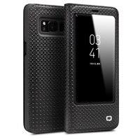 QIALINO Fashion Genuine Leather Case Cover For Samsung Galaxy S8 S8 Plus Ultrathin Flip Bag Sleep