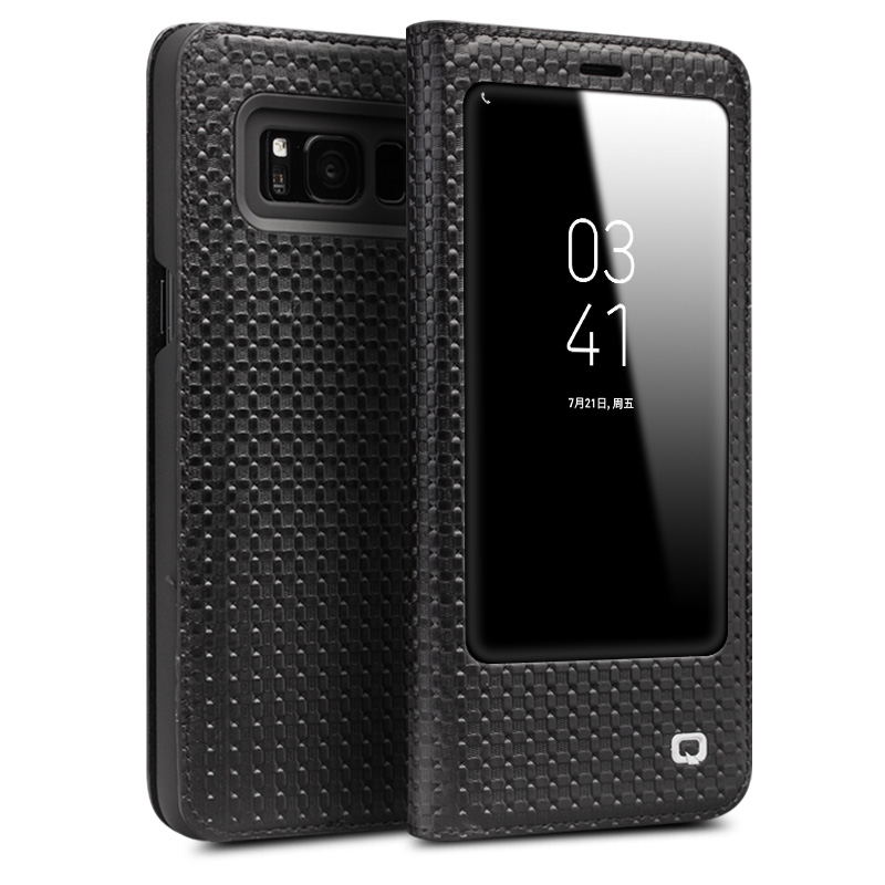 Qialino модные Пояса из натуральной кожи чехол для Samsung Galaxy S8 и S8 плюс Ультратонкий флип мешок сна пробуждение функция 5.6/6.1 -дюймовый