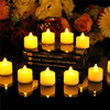 Set Of 24 Amber LED Battery Operated Flameless Tealights Electric Fake Candles Yellow