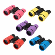 Rubber 4x30 Plastic Children Binoculars Pocket Size Telescope Maginification For Kids Outdoor Games Boys Toys Gift