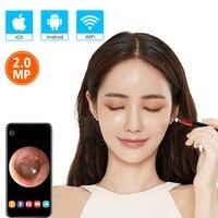 Wifi камера для ушей Новая модернизированная 3,9 мм визуальная Ушная камера HD ушной эндоскоп с ушным воском инструмент для чистки с 6 светодиод...