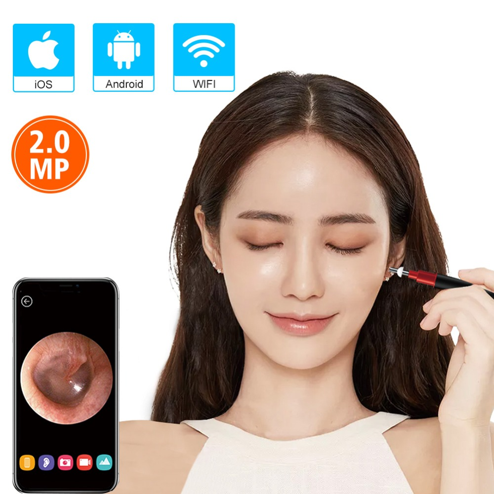 Surveillance Cameras Methodical Wifi Ear Scope Camera New Upgraded 3.9mm Visual Ear Camera Hd Ear Endoscope With Earwax Cleaning Tool With 6 Led For Android Ios Clear And Distinctive Video Surveillance