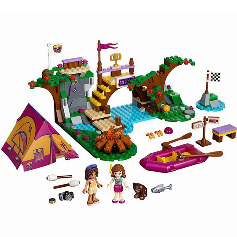 Friends Series Adventure Camp Rafting Building Blocks Model Set Classic For Girl Kids Toys Compatible with BELA 10493