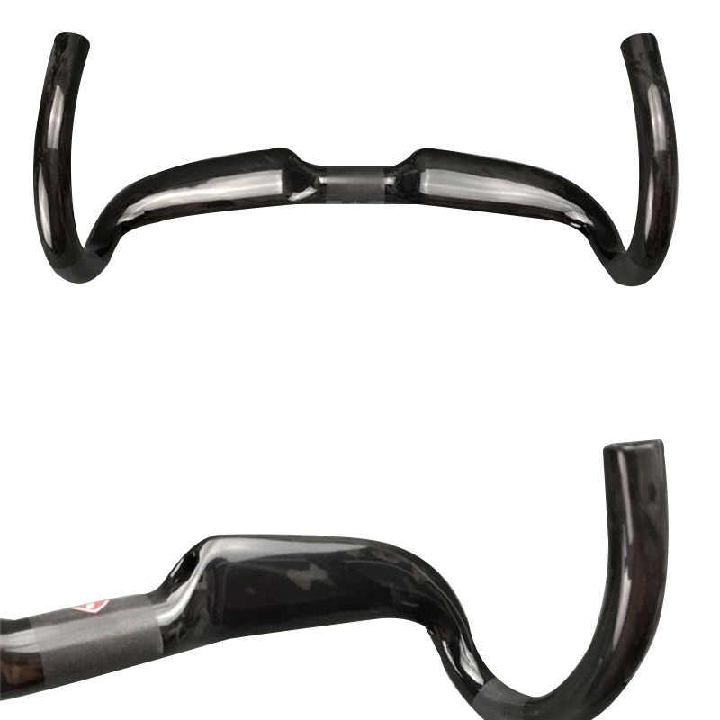 Carbon Fiber Handlebar Ultralight Bike Accessories Parts For Road Bike Glossy/Matte 31.8*400/420/440mm Black Cycle Racing Bar