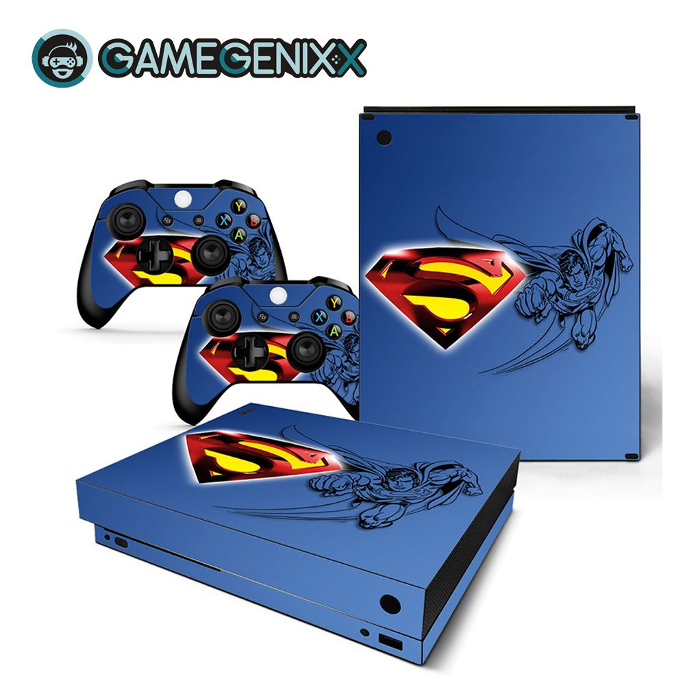 GAMEGENIXX Skin Sticker Protective Decal Cover Full Set for Xbox One X Console and 2 Controllers - Superman(China)