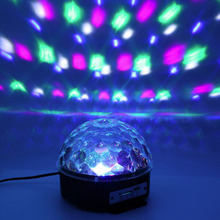 Digital RGB LED Music Crystal Magic Ball Effect Light MP3 USB DMX Disco DJ Stage Lighting+Remote Control+Bluetooth Control