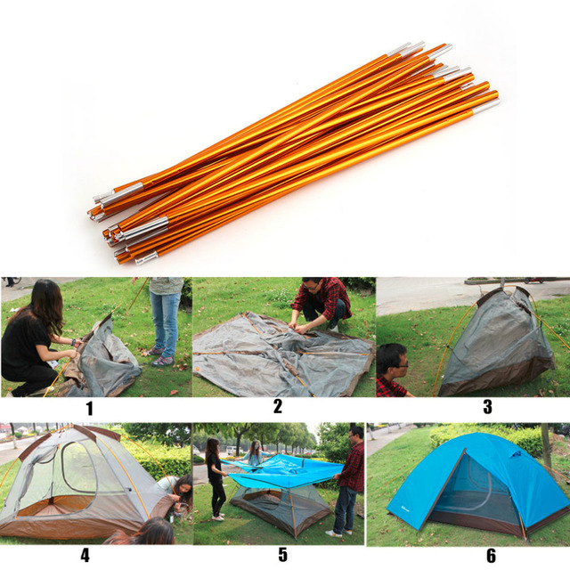 2pcs 405cm Outdoor C&ing Lightweight Tent Pole Rod Bar Aluminum Alloy Tool Spare Tent Supporting Pole  sc 1 st  AliExpress.com : spare tent poles - memphite.com