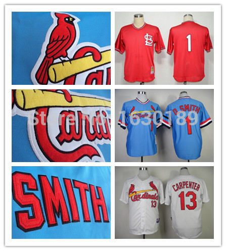 various colors 52cdc b444a st.louis cardinals jersey #1 Ozzie Smith baseball Jersey red ...