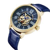 ساعة يد رجالية فاخرة من OULM مقاومة للماء زرقاء اللون كاجوال ماركة عسكرية ساعات يد رياضية