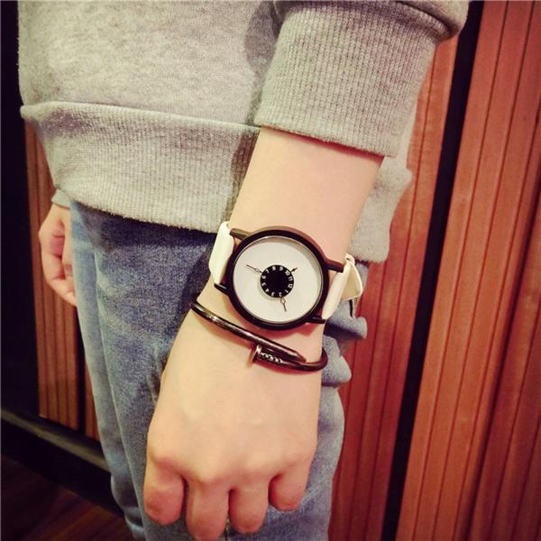 GEMIXI DROP SHIPPING Fashion Lovers Men Women Leather Band Quartz Analog Wrist Watch women's watch may21HY
