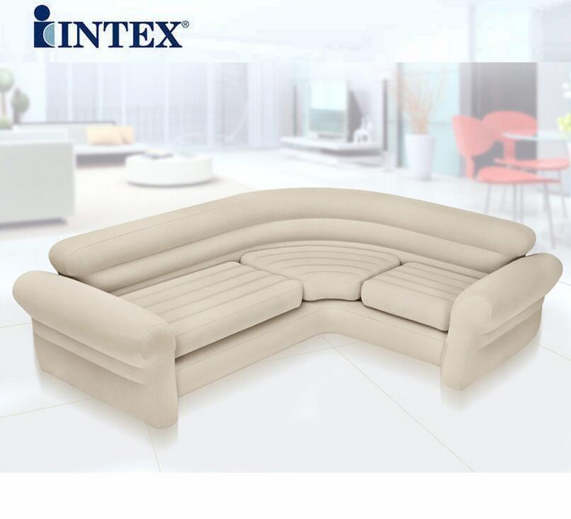 US $211.0 |Doppio coupe divano pigro divano gonfiabile letto ad angolo  aperto tramonto reclinabile, 2 o 3 persone spazio grande formato aria sedia  del ...