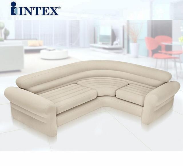 Doppio coupe divano pigro divano gonfiabile letto ad angolo aperto ...