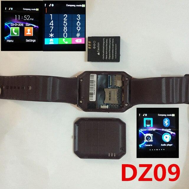 Bluetooth Смарт Часы Smartwatch DZ09 Для Android Apple Телефон Часы Поддержка Facebook Whatsapp SD SIM С Камерой Шагомер