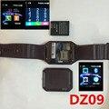 Bluetooth relojes inteligentes dz09 reloj smartwatch para android apple teléfono apoyo whatsapp facebook sd sim con cámara podómetro