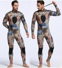 3MM Neoprene Camouflage Wetsuit With Back Zipper Split Full Body Wetsuits Men Scuba Spearfishing Snorkeling Swimsuit Diving Suit sbart 3mm neoprene scuba diving surfing wetsuit men warm full body spearfishing wet suit for triathlon kitesurfing jumpsuit l