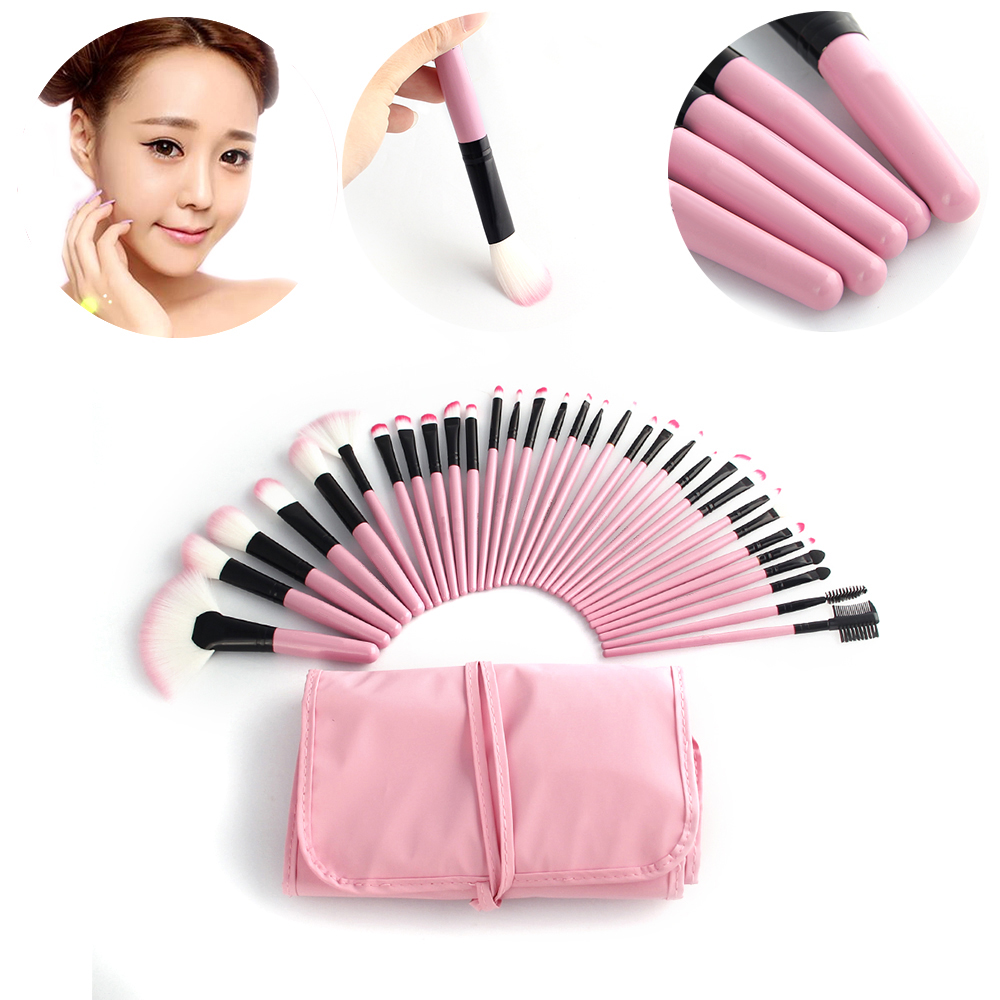 Vander Makeup Brushes Set  32Pcs 100% Brand New Pouch Bag Case Superior Soft Cosmetic Makeup Brush Set Kit  Blending Powder