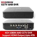 Mini hd 4ch ahd dvr 1080n 720 p gravação ou 960 h (analógico) CCTV AHD DVR CCTV 4 Canais de Vídeo Digital Gravador de Vídeo Saída HDMI