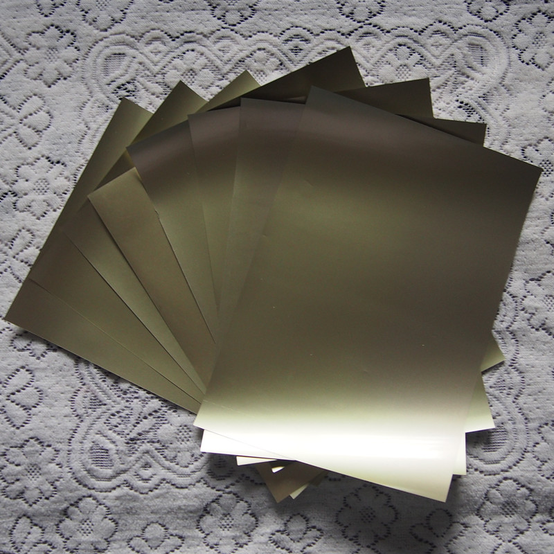 (A4*8pcs) Golden Color PU Vinyl Heat Transfer For Clothing Iron On Vinyl Cuttable Film Plotter Vinyl Textil For Heat Press 610