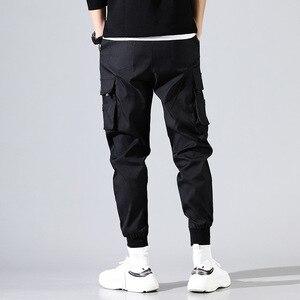 Image 2 - ヒップホップ男性 Pantalones やつ高ストリート Kpop カジュアルカーゴパンツ多くポケットジョギング Modis ストリートズボン原宿