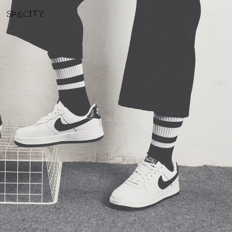 Underwear & Sleepwears Hipster Man Crew Skateboard Socks Mens Ins Style Classic Striped Fashion Cotton Short Socks Autumn Harajuku Art Socks Male Sox