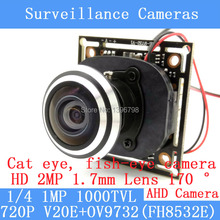 Camera Module 1.0MP 720P AHD 4in1 1000TVL 360 Degree Wide Angle Fisheye Panoramic Camera Infrared Surveillance Camera Security