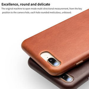 Image 5 - QIALINO Business Genuine Leather Back Cover for iPhone 8 Plus Ultra Thin Pure Handmade Phone Case for iPhone 8 for 4.7/5.5 inch