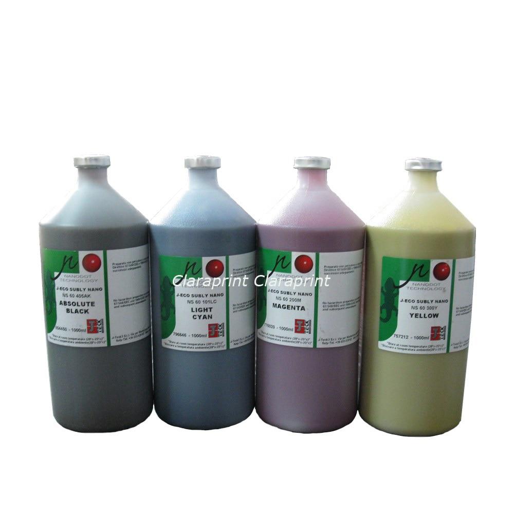 4 color/set J-eco Subly NANO NS60 J-TECK Dye Sublimation Ink Water Based Printing Ink Bottle 1000ml цена