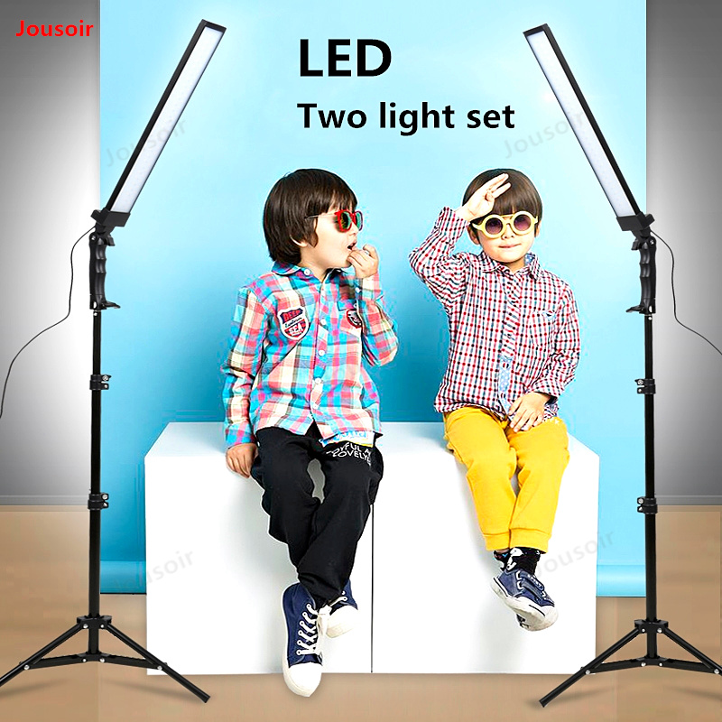 LED Light Kit Studio Softbox 2 Lamp Set photographic lamp live still shooting dimming lamp photography Light Equipment CD50 T11