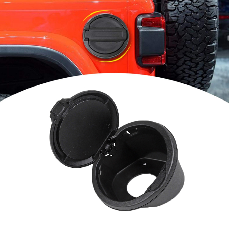 2019 New Style For Jeep Gas Tank Cover Plated Black Car Door Fuel Oil Cap Car Styling Accessories For Jeep Wrangler Jl 2018 Exterior Parts