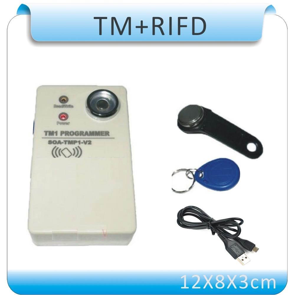 Free shipping Upgrade TM copier DS 1990A I Button 125KHz RFID Copier Duplicator 10 TM card