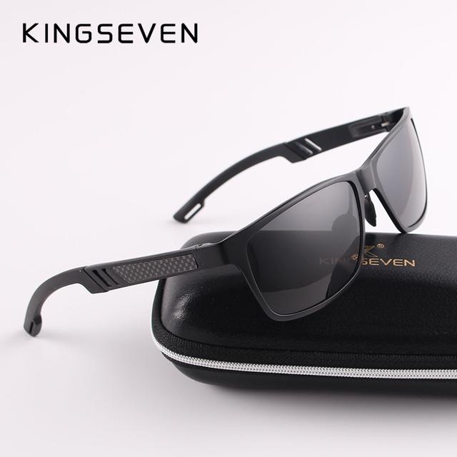 2017 New KINGSEVEN Polarized Sunglasses Men Brand Designer Male Vintage Sun Glasses Eyewear oculos gafas de sol masculino N7180