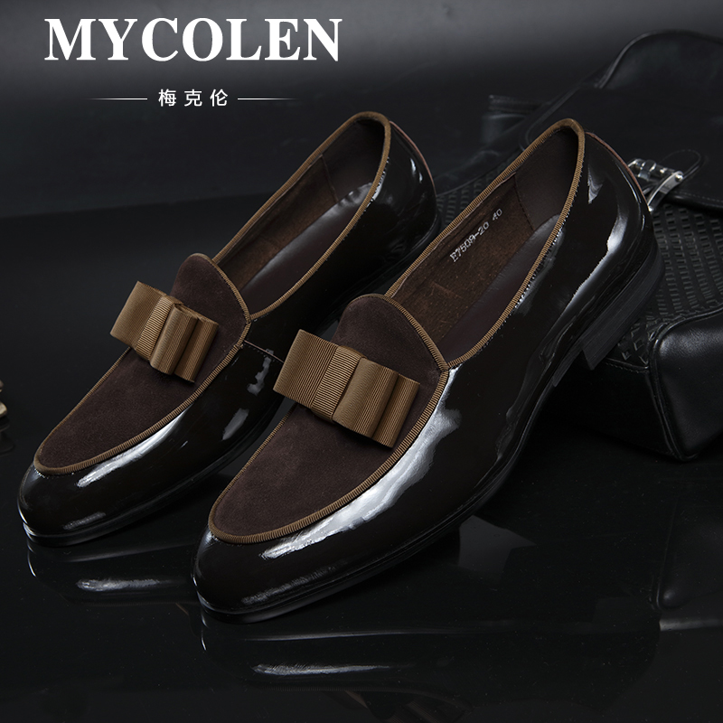 MYCOLEN Genuine Leather Handmade Mens Loafers Men Shoes Classical Casual Moccasins Male Office Shoe Loafers Zapatos Hombre