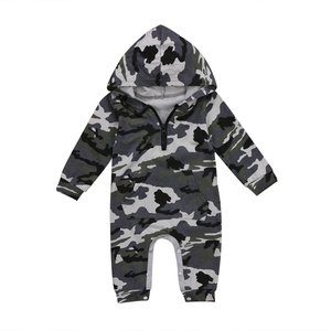 Newborn Baby Infant Boy Girl Camo Romper Hooded Jumpsuit Outfits Clothes New(China)