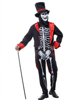 Free Shipping Halloween Party Christmas Festival Role Playing Suit Skeletal Mage Costumes