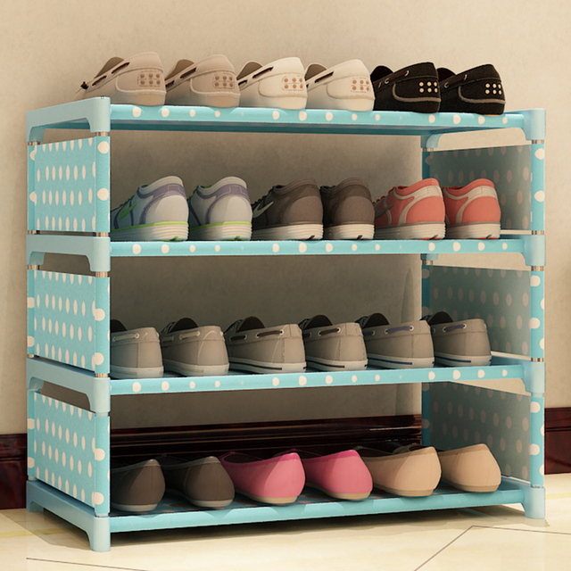 New Multifunction Shoes Rack Three Tiers Home DIY Shoes Cabinet Rack Space  Saving Shoes Shelf Four