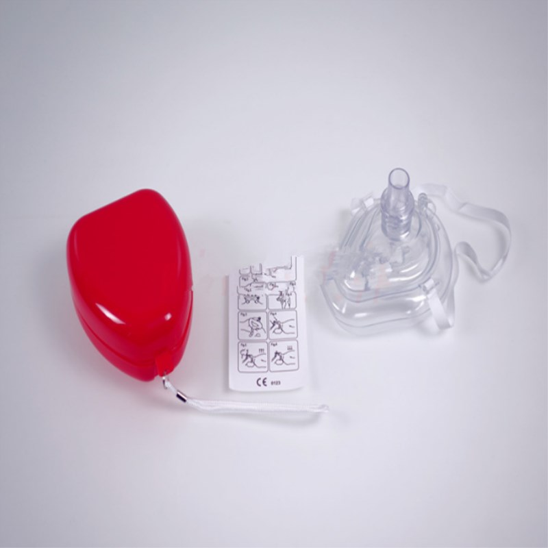 2 Pcs Free Shipping CPR Breathing Mask Mouth Breath One-way Valve Tools CPR Resuscitator Rescue Mask Pocket