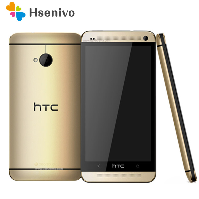 Unlocked Original Mobile Phones HTC ONE M7 2GB RAM 32GB ROM Smartphone 4.7 inch Screen Android 5.0 Quad Core Touchscreen HTC M7 image