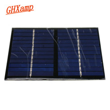 GHXAMP Solar Panel 12V 1.5W DIY Battery Power Charge Module For Phone 115x90mm Polycrystalline Silicon Solar Cell 1PC