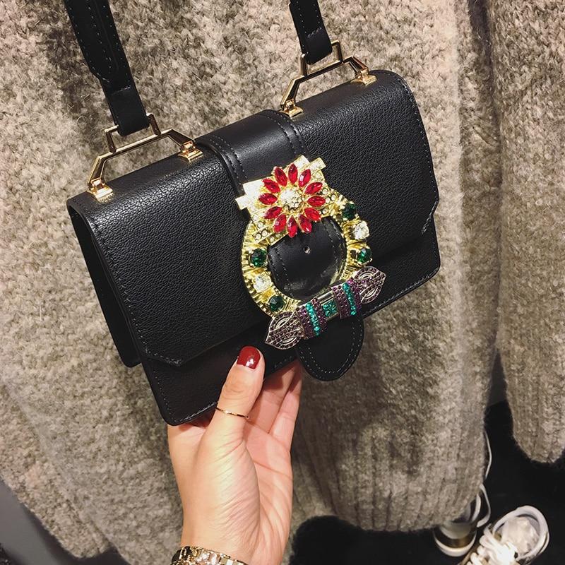 ФОТО Luxury Colorful Diamond Crossbody Bags Designer Brand Handbags High Quality PU Leather Bags Teenager Girls Shoulder Bags Women