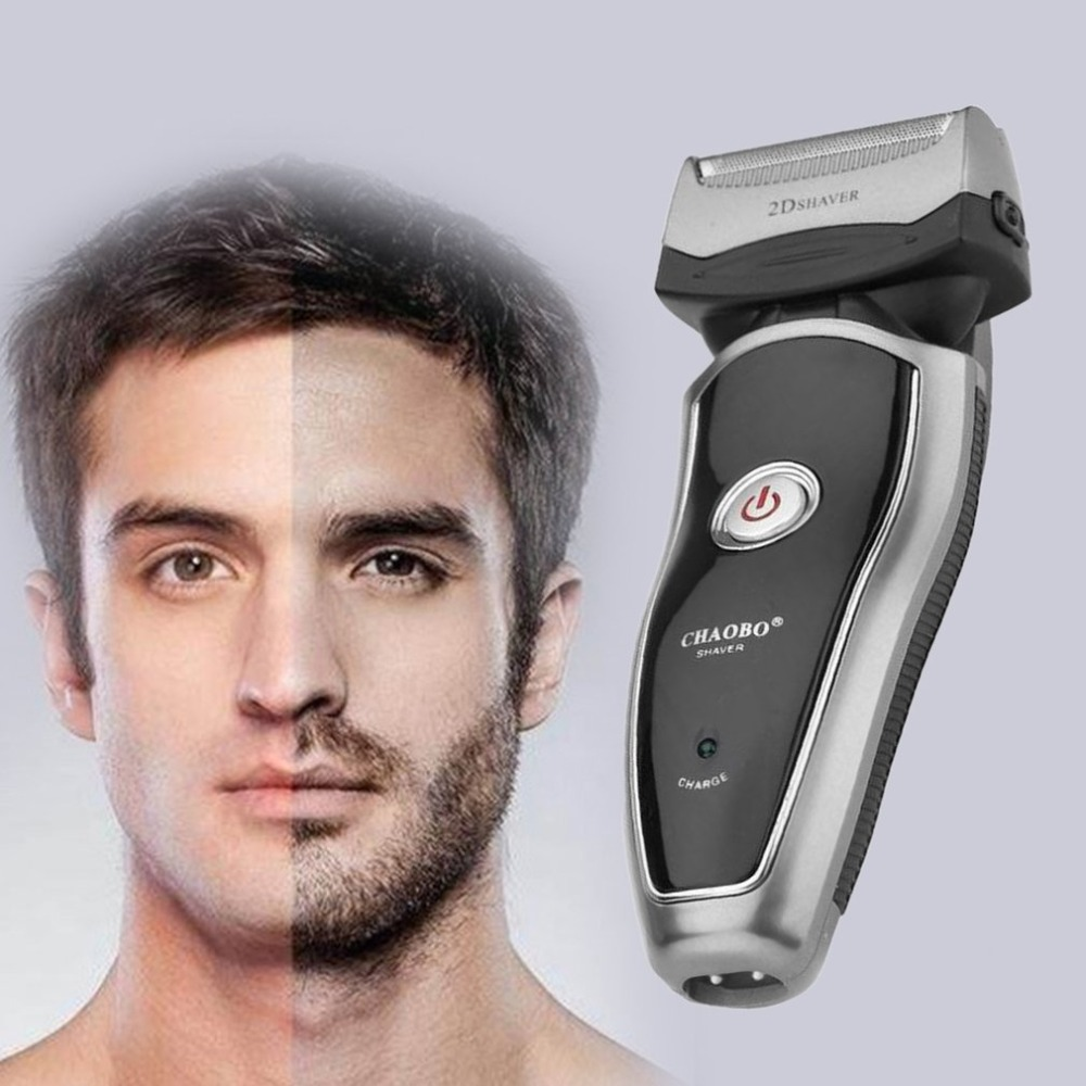 US Plug Rechargeable Cordless Electric Razor Portable Man Beard Shaver