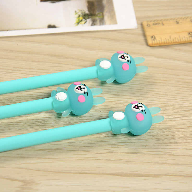 Image 3 - 100 Pcs Cute Water Pen and Neutral Pen of Small Animal Powder Rabbit  Pens for School  Stationary kawaii school supplies-in Gel Pens from Office & School Supplies