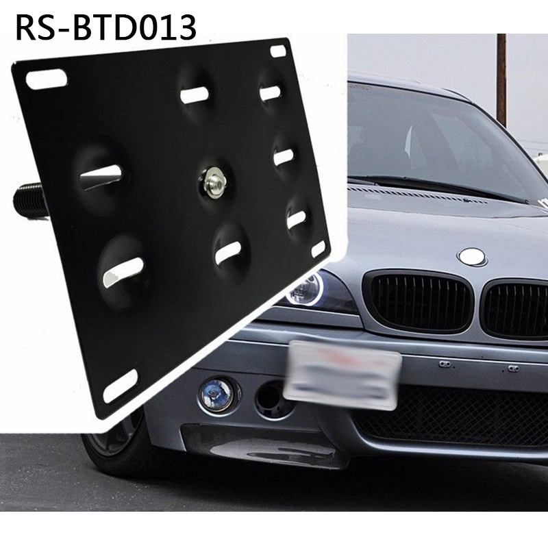 Image 5 - RASTP   Free Shipping Auto Black Front Bumper Tow Hook License Plate Mounting Bracket Holder RS BTD013-in Towing Bars from Automobiles & Motorcycles