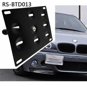 Image 5 - Rastp auto czarny przedni zderzak hak holowniczy uchwyt mocujący tablic rejestracyjnych uchwyt RS BTD013