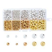 990 шт/кор круглые латунные бусины stardust и железные для самостоятельного